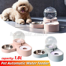 Automatic Pet Feeder Drinking Large Capacity Dog Food Bowl Dish Water