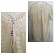 H&M CREAM LACE WOMENS DRESS..SIZE 14..BRAND NEW WITH TAGS..PRETTY...STYLISH