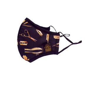 Barber Face Mask Hair Cutting Face Mask With filter Black, Gold King Midas