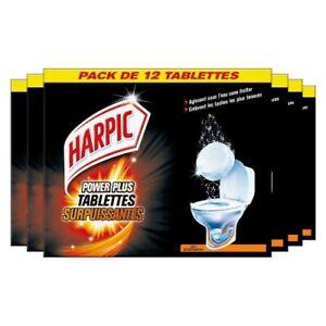 Harpic lot de 6 boites WC surpuissantes PowerPlus de 12 Tablettes