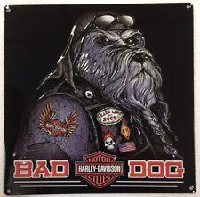 Ande Rooney HARLEY DAVIDSON BAD DOG Tin H-D Garage Man Cave Motorcycle Sign