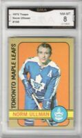 1972-73 Topps #168 Norm Ullman | Graded NM/MT 8 | Toronto Maple Leafs