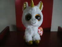 Ty Beanie Boos PEGASUS THE UNICORN 6 inch NWMT.EUROPEAN EXCLUSIVE. NEW RELEASE.