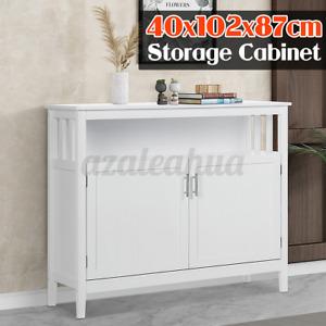 Bathroom Kitchen Storage Cabinet Pantry Chest Shelf Sideboard Cupboard Organizer