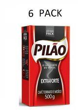 Pilao Extra Forte Brazilian Cafe Coffee 500 Grams 1.1 Pounds - 6 Pack
