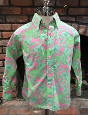 NWT Lilly Pulitzer boys size 6 long sleeved dress shirt Rhino Charge It Print