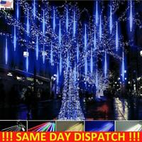 Falling LED Meteor Shower Lights Rain Icicle Christmas Outdoor Garden Tree Decor