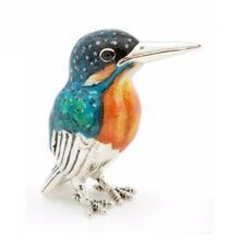 Saturno Silver and Enamel Kingfisher