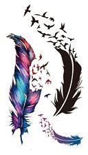 Set Small Temporary Tattoo Stickers Body Art Waterproof Feather Fly Bird