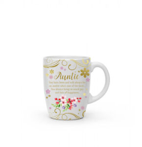 New boxed Auntie present gift fine china mug coffee cup Free P+P