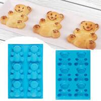 6-Cavity Bear Silicone Muffin Pan Pudding Cake Tins Bakeware Baking Tray Mould