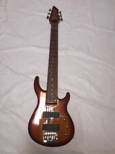 Galveston Six String Right Handed Bass Guitar - Amber Wood