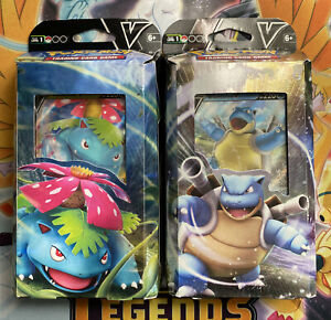 Pokemon V Battle Decks - BLASTOISE V and VENUSAUR V - Set of 2 - SHIPS FAST