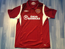 Adulti Medio Cuore Di Midlothian Football Shirt Stagione 2009-2010 Home