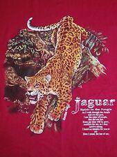 Vintage The Jaguar Jungle Spirit Animal Rainforest Animal 1996 90's T Shirt XL