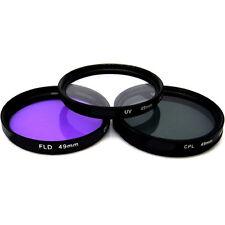 Vivitar 49mm UV, Polarizer & FLD Deluxe Filter Kit (Set of 3 + Carrying Case)
