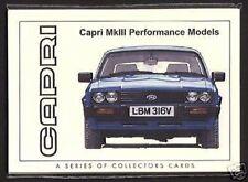 FORD CAPRI MK III (1978-86) - ORIGINALE CARTOLINE DA COLLEZIONE - 2.8i ZAKSPEED