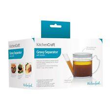 KitchenCraft Measuring Jug Gravy / Fat Separator & Filter 500ml