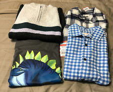 Cat & Jack Boys Size 8-10 Clothes Lot Button Front Shirts Sweater Top Kids NWT