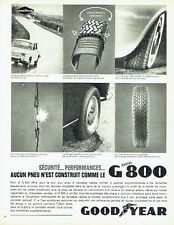Publicité Advertising 067  1964  les pneus G800  radial Goodyear