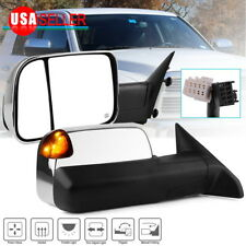 Pair Chrome Towing Mirrors for 09-12 Dodge Ram 1500 Power Heated Signal Pundle
