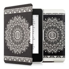 kwmobile Flip Tasche für Amazon Kindle Paperwhite Blume Schutz Kunstleder Hülle