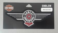 Patch embroidered sew on, Harley-Davidson, Emblem Fat Boy Reflective
