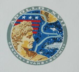 """Vintage Original NASA Beta Cloth APOLLO XVII 17 Patch (~1972) ~ 9""""x9''"""