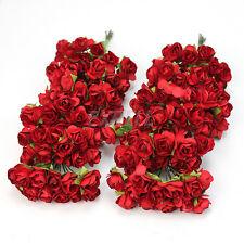 144 Rose Rosso Fiori Artificiali di Carta Nozze Decorazioni Casa DIY Cerimonia