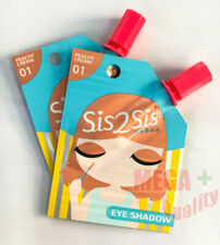 2x Sis2Sis Eye Shadow Cream #01 Peachy Cream Beauty Cosmetic Pack Travel size 2G