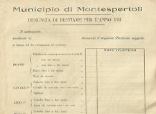 Denuncia Intonsa di Bestiami nel Municipio di Montespertoli Fascismo 1930