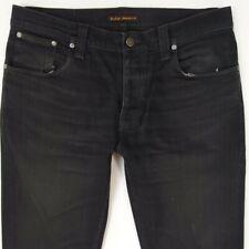 Mens Nudie GRIM TIM Stretch Slim Skinny Blue Jeans W34 L34