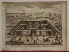 PARIS CLES INVALIDES FRANCE 1758 THOMAS SALMON ANTIQUE COPPER ENGRAVED VIEW