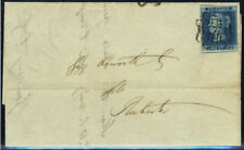 1841 2d blue (Plate 3) on cover, No. 7 in Maltese Cross, Rochester c.d.s. . .