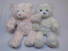 Build a Bear Pink Girl Blue Boy Set Pair LOT Buddies Friend Stuffed Plush Animal
