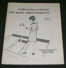 1967 Interior Design Decoration Scaled Furniture Cutouts Purdue Univ