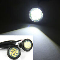 1 Pair/12V 15W Auto DRL Backup White LED Light Spotlighting Eagle Eye Car Lamp