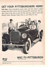 Get Your Pittsburghers Here!- WIIC-TV Pittsburgh PA 1965 Ad- Gulf N-Nox