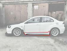 Varis Style Side Skirts for Mitsubishi Lancer Evo X wide body or standard v8