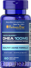 Puritan's Pride DHEA 100 mg 60 Capsules Building Muscle Burning Fat MADE IN USA