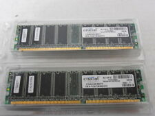 Crucial 512Mb 184-Pin DDR PC3200 Memory - Lot of 2 (1 Gb total)