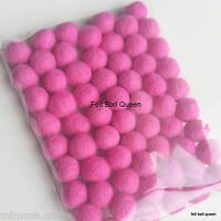 1.5cm Handmade 100% Wool Pink Color Felt Ball Beads Pom Pom DIY Craft Supplies