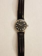 Men's Zenith 2542 Vintage Watch Black Dial Stainless Steel