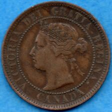 Canada 1888 1 Cent One Large Cent Coin - VF/EF