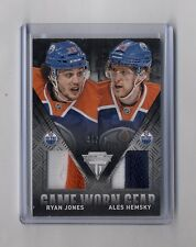 Ryan Jones & Ales Hemsky 2013-14 Titanium Game Worn Gear Dual Patch 35/50 Oilers