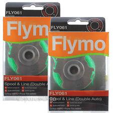 2 x Bobine Flymo DU PERCO ligne & 2.0 mm Double Auto FLY061 véritable contour 600HD