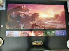 HUGE Blizzard Entertainment VANILLA World Of Warcraft Poster NEW BLIZZCON 2008