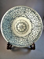 ANTIQUE CHINESE MING DYNASTY BLUE WHITE PORCELAIN BOWL PLATE MUSEUM QUALITY MINT
