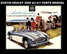 New listing Austin Healey 3000 Parts Manual 375pgs Parts List w/ Exploded Detailed Diagrams