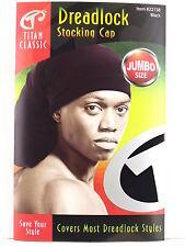 TITAN CLASSIC JUMBO SIZE DREADLOCK STOCKING CAP - BLACK  (22138)